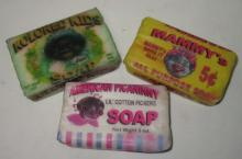 3 Modern Bars of Black Americana Soap