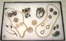 Collection of Victorian Faux pearl & Misc Jewelry