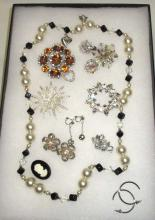 Pearl, Black & Amber Misc Jewelry