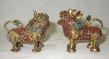 2 Oriental Foo Dogs