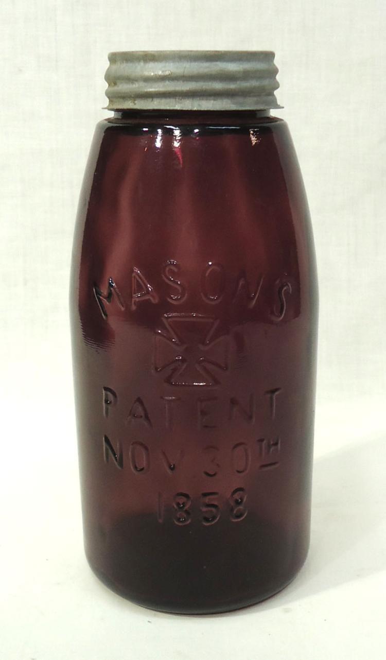 Modern Amethyst Mason 39 S 1858 Fruit Jar