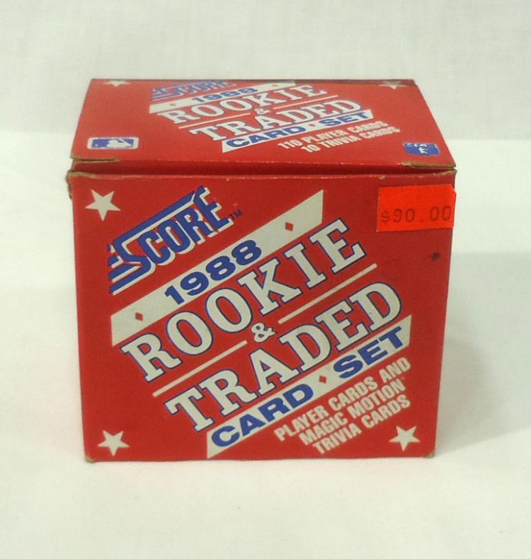 Box 1988 Score Rt Baseball Cards