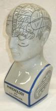 Modern Porcelain Phrenology Head