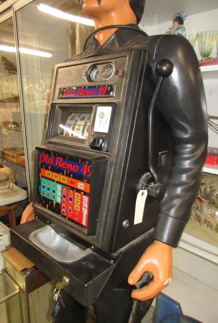 Black Bart Old Reno 25 Cent Slot Machine