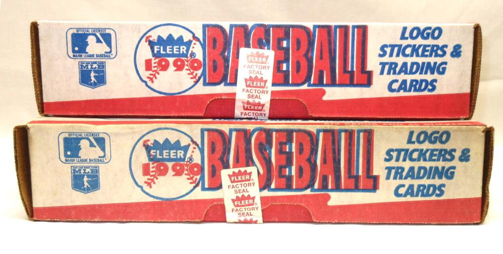 2 Factory Sealed 1990 Fleer Baseball Card Sets