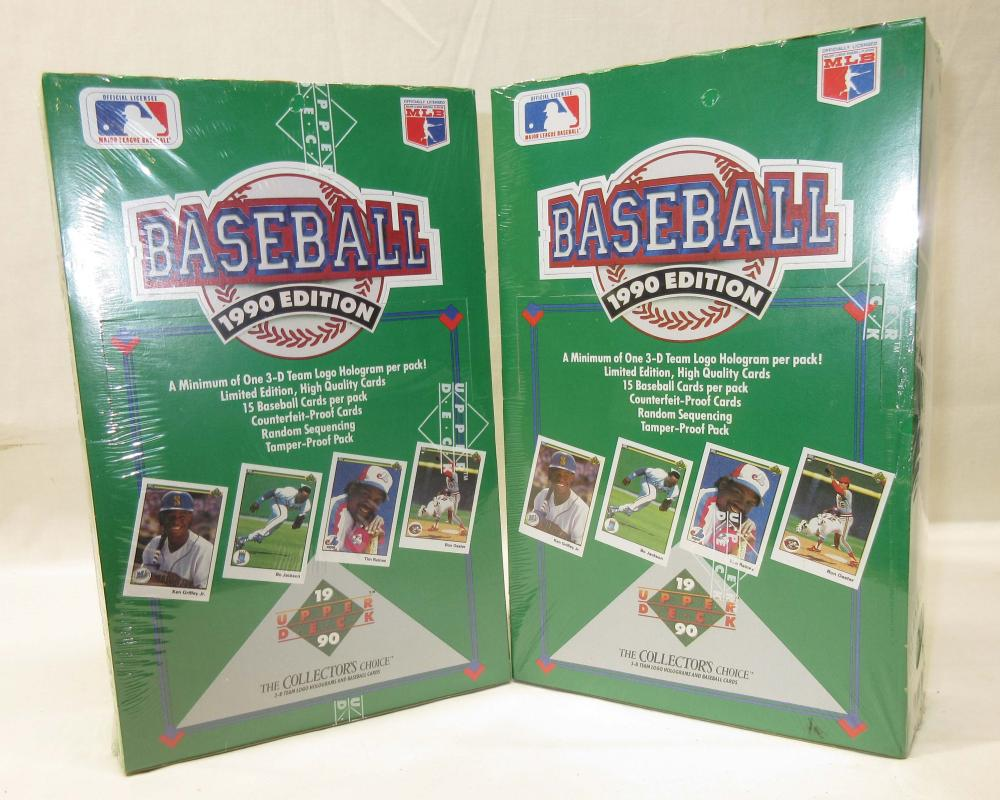 2 Boxes 1990 Upper Deck Baseball Cards