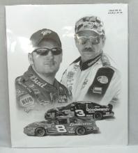 Dale Sr. & Jr. Earnhart Poster