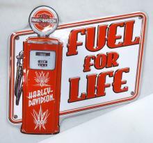 Modern Harley Davidson Gasoline Sign