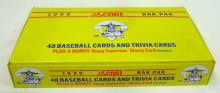 Box  1990 Score Rak Pak Baseball Cards