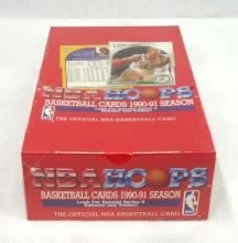 Sealed Box 1990/91 Hoops Basketball Cards
