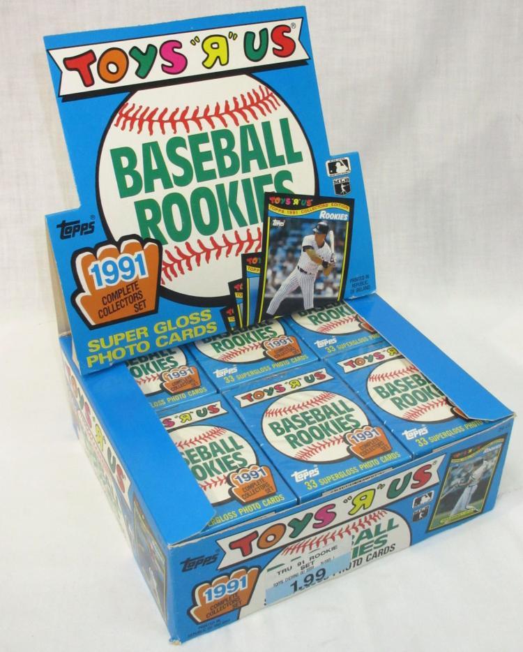Lot 273: Unopened Box 1991 Baseball Rookies Cards
