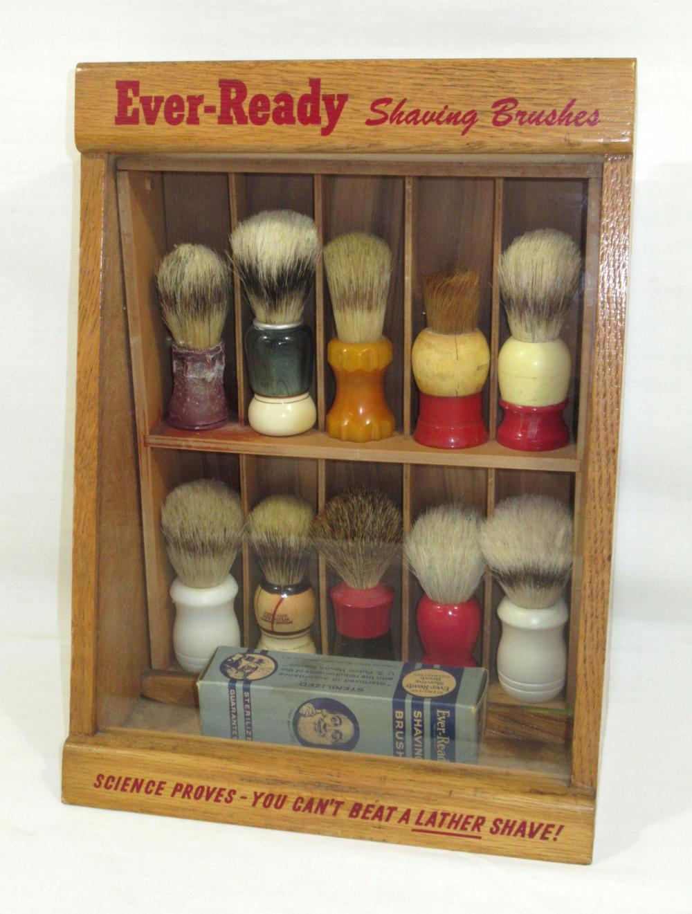 Shaving Brush Display Case