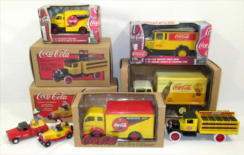 6 Die Cast Coca Cola Trucks NIB