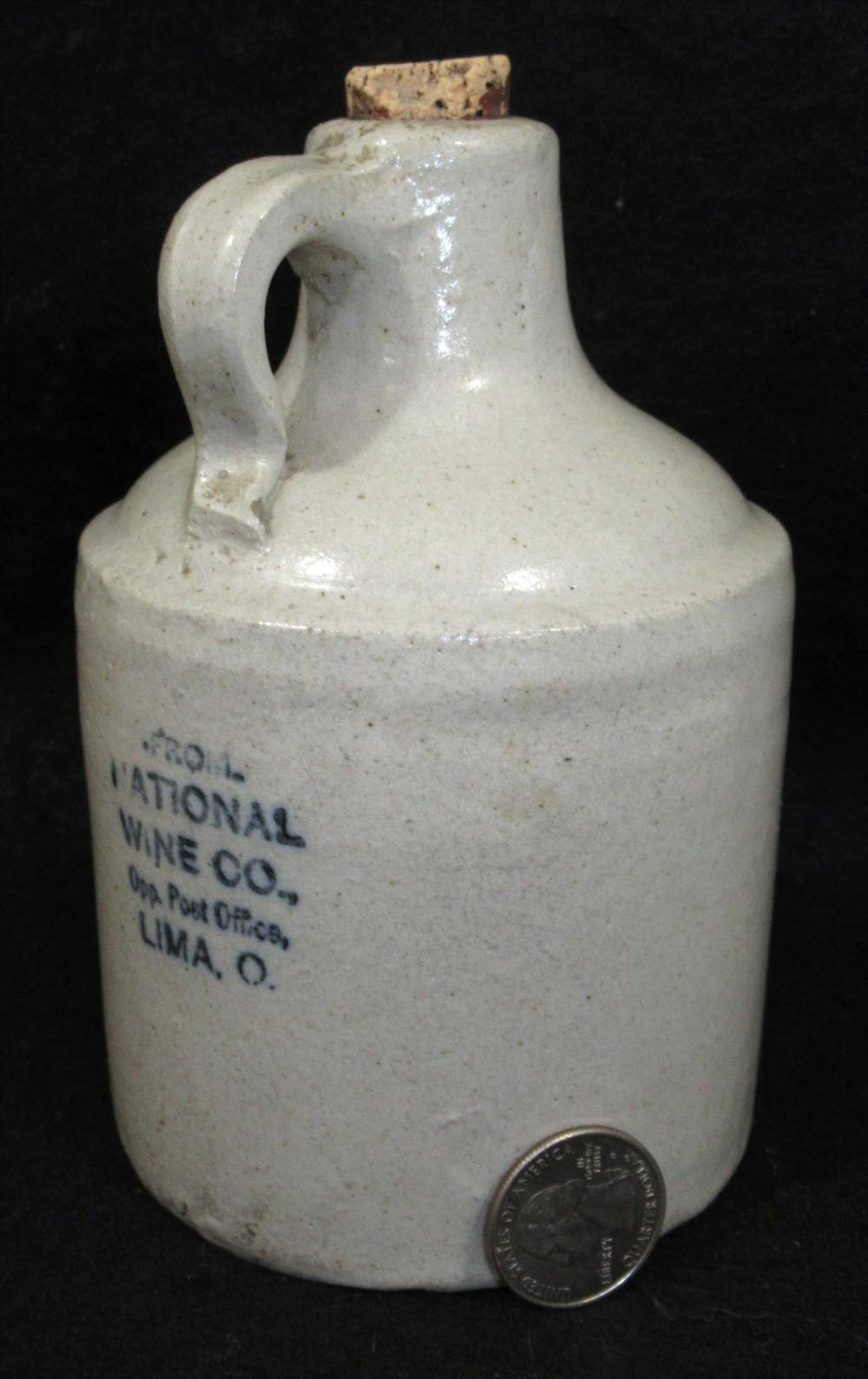 Miniature Stoneware Advertising Jug