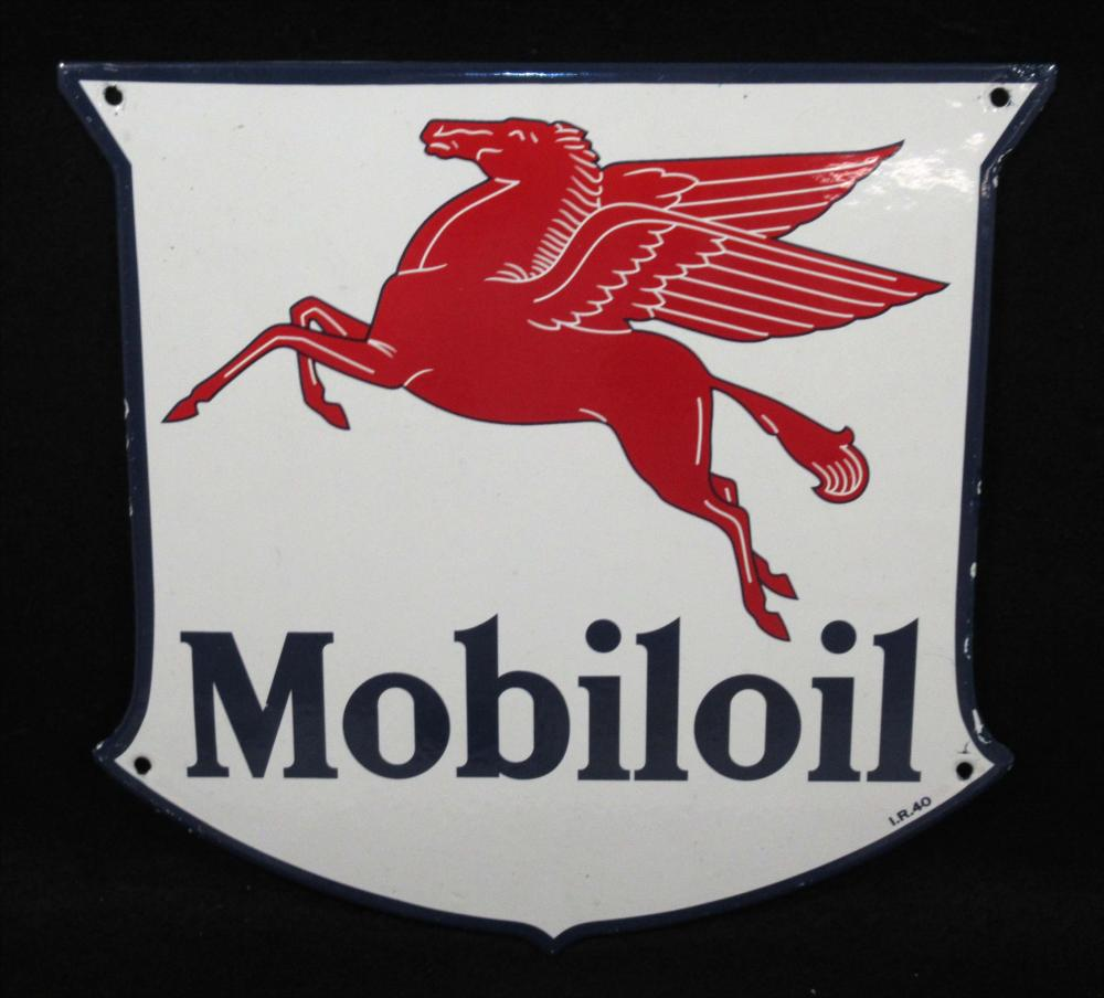 Porcelain Mobiloil Sign