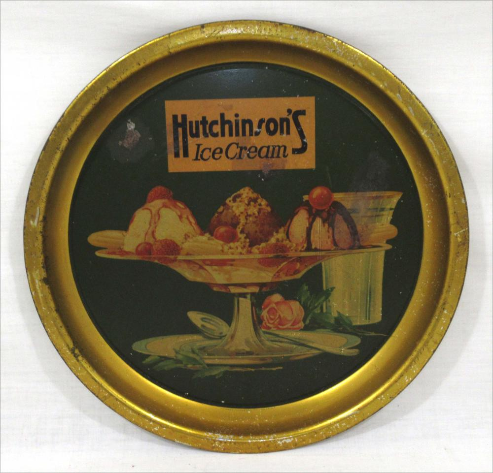 Hutchinson's Ice Cream Metal Tray