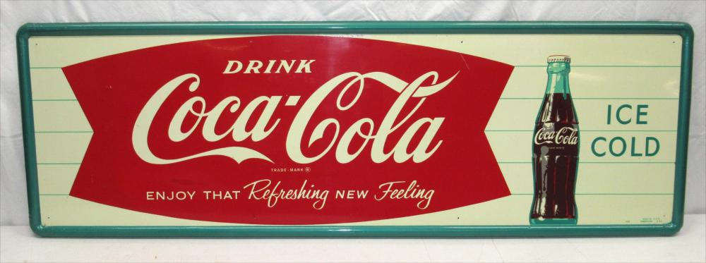 Coca Cola Fishtail Sign