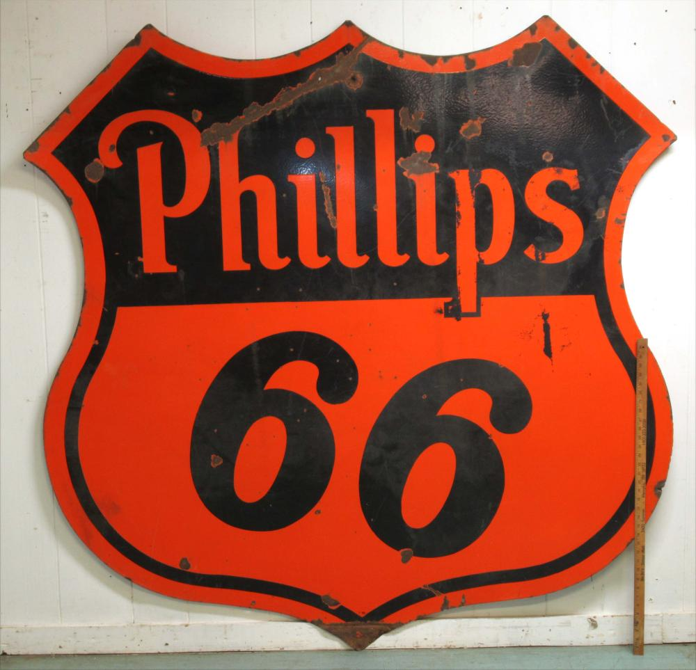 Phillip's 66 Porcelain Sign