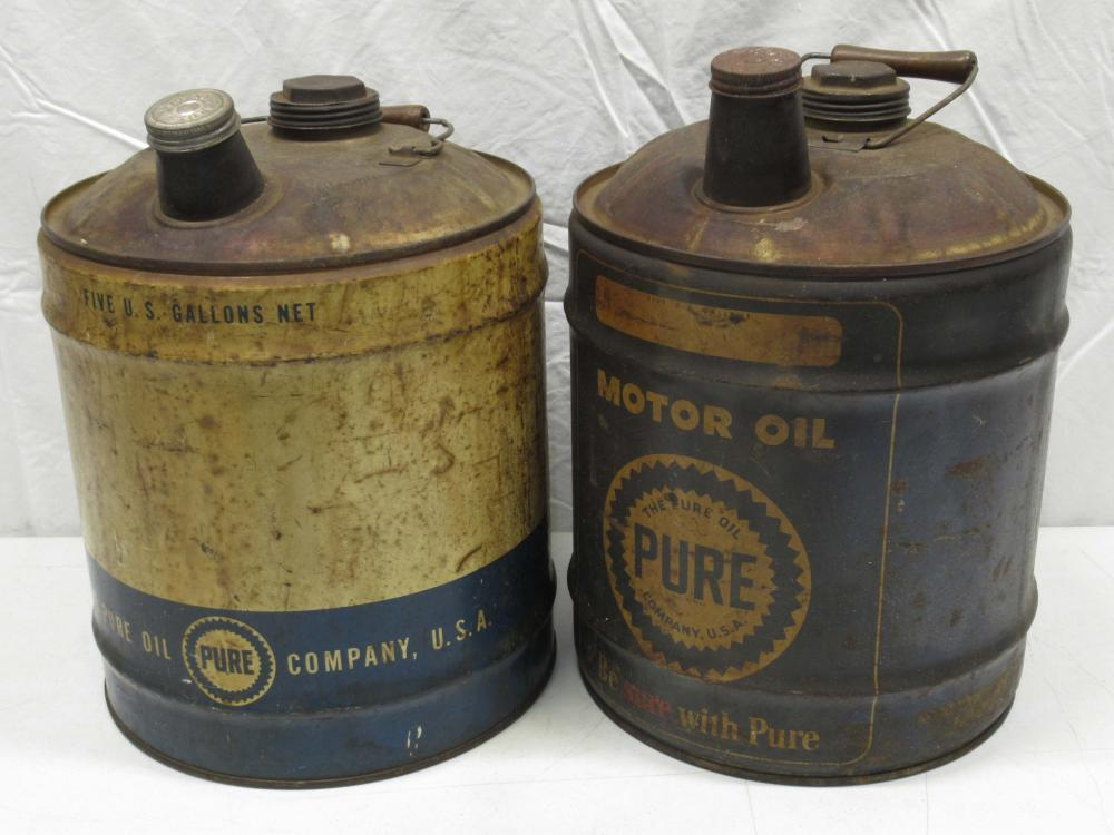 (2) 5 Gallon Pure Gas Cans