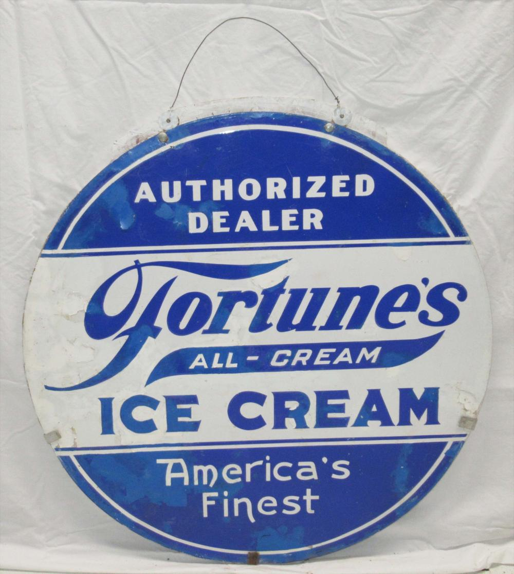 Porcelain Fortune's Ice Cream Sign