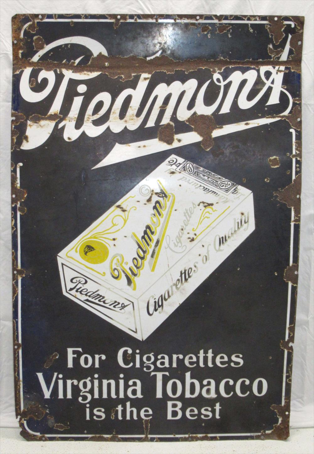 Porcelain Piedmont Cigarette Sign