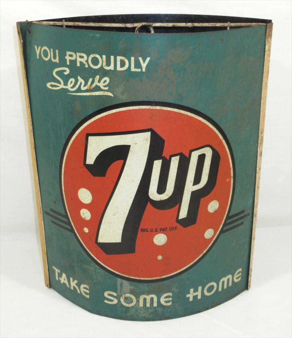 Dbl. Sided Tin 7 Up String Holder