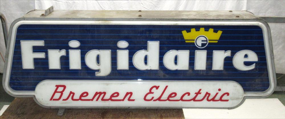 Dbl Side Lighted Frigidaire Sign