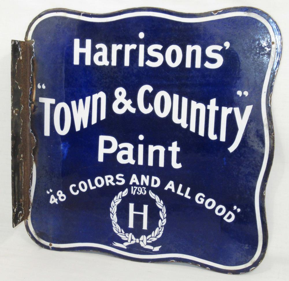 Porcelain Harrison's Paint Flange Sign