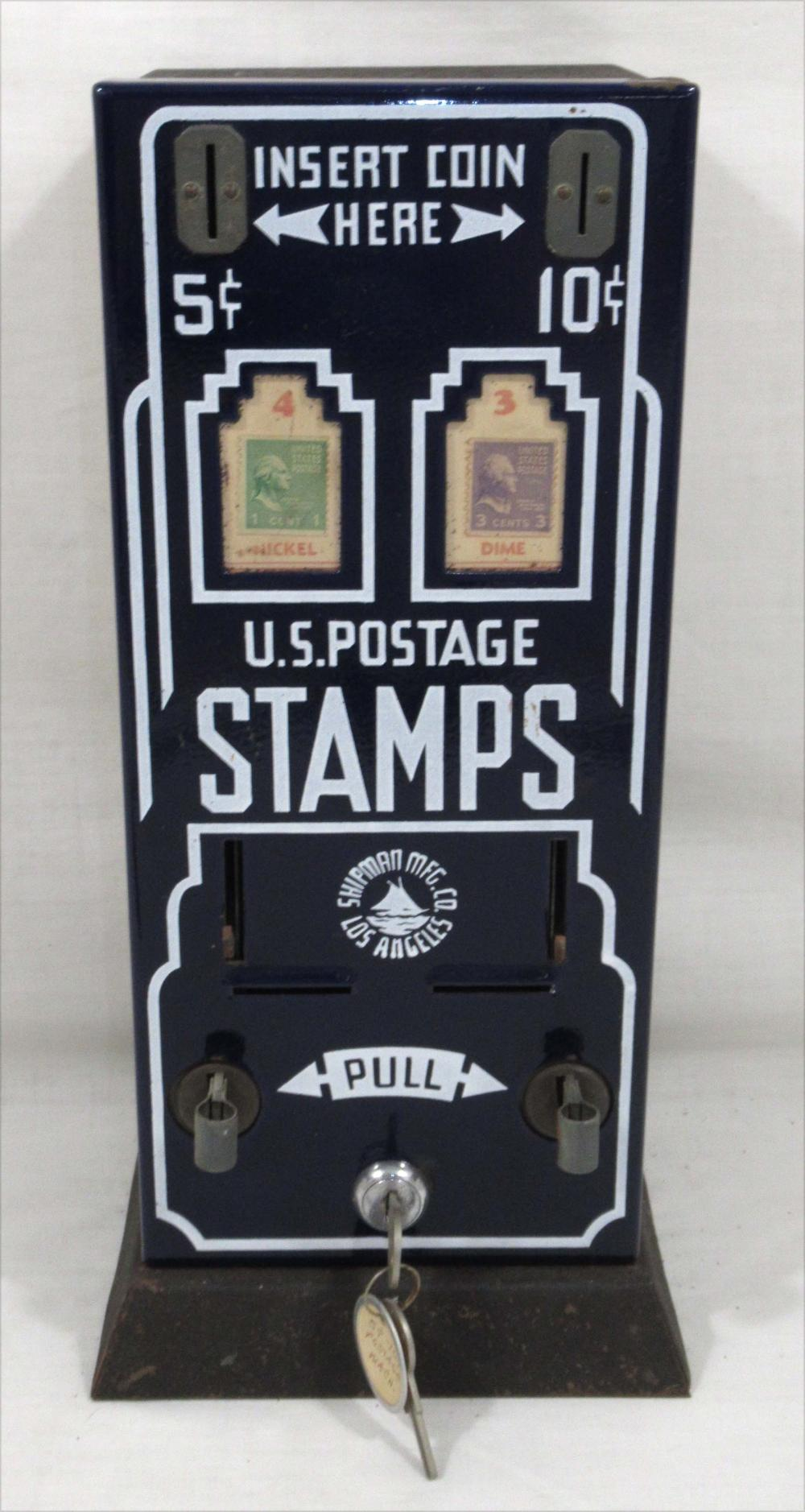 Postage Stamp Machine w/ Key
