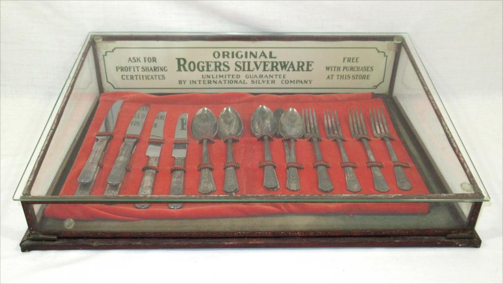 Roger's Silverware Store Display Case