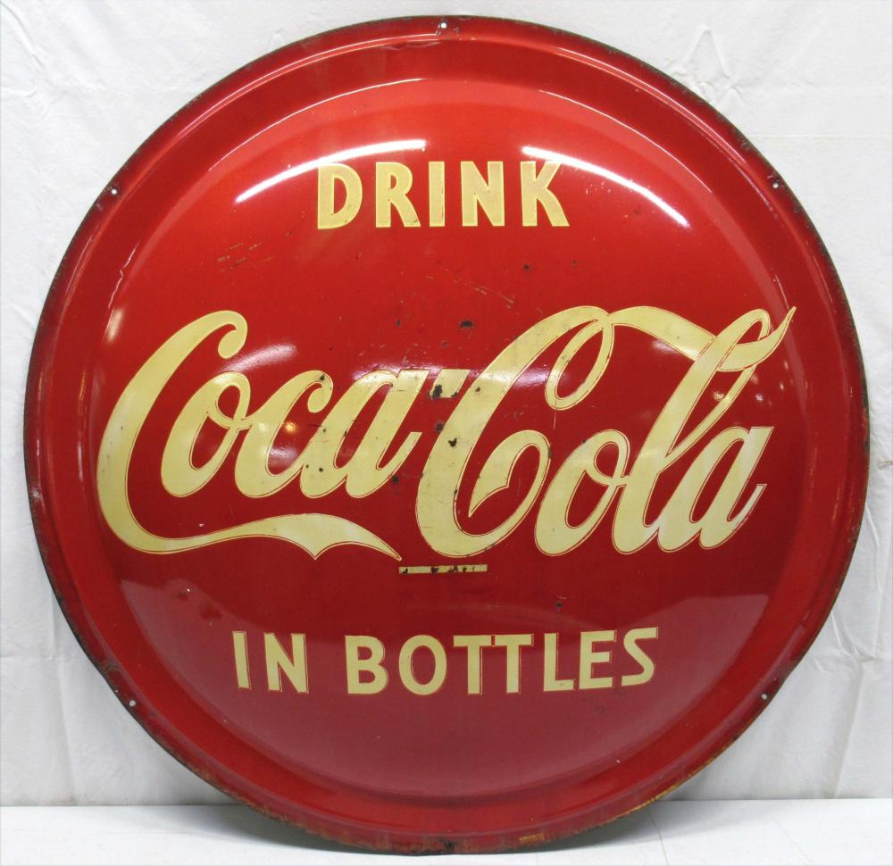 Lg. Coca Cola Button Sign