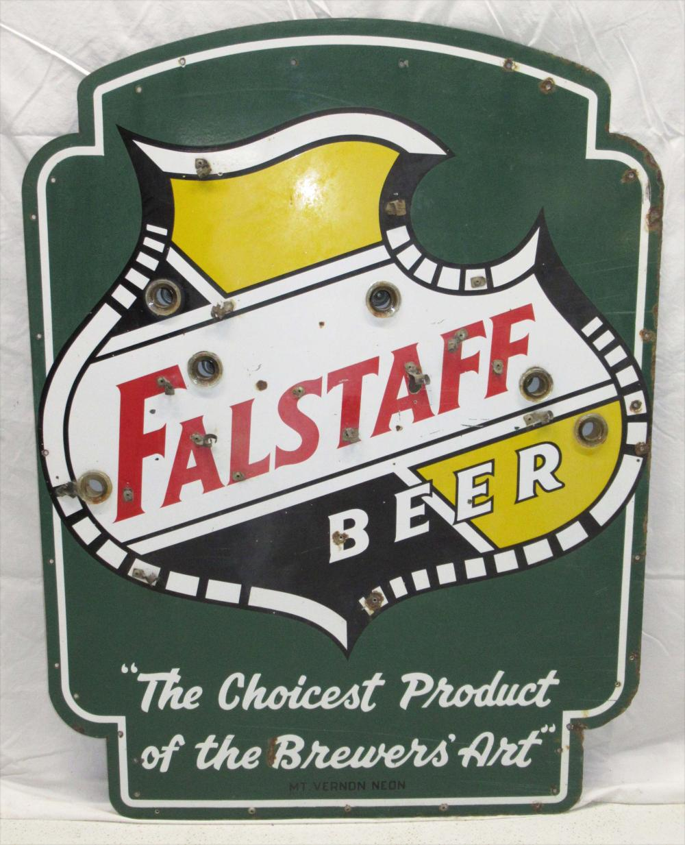 Porcelain Falstaff Beer Sign