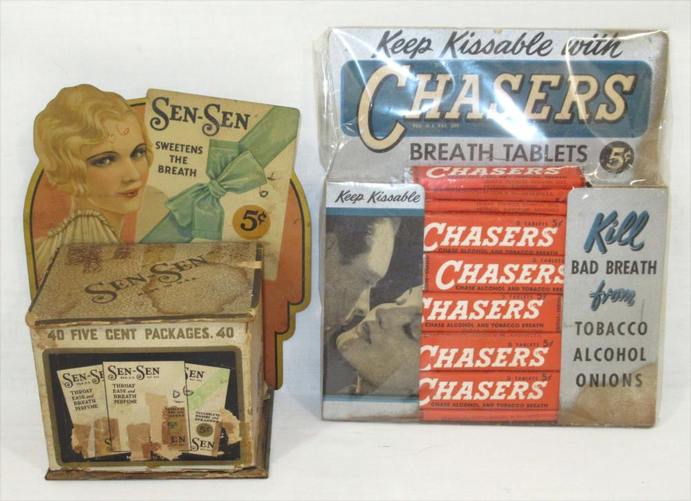 Sen-Sen & Chasers Breath Mint Displays