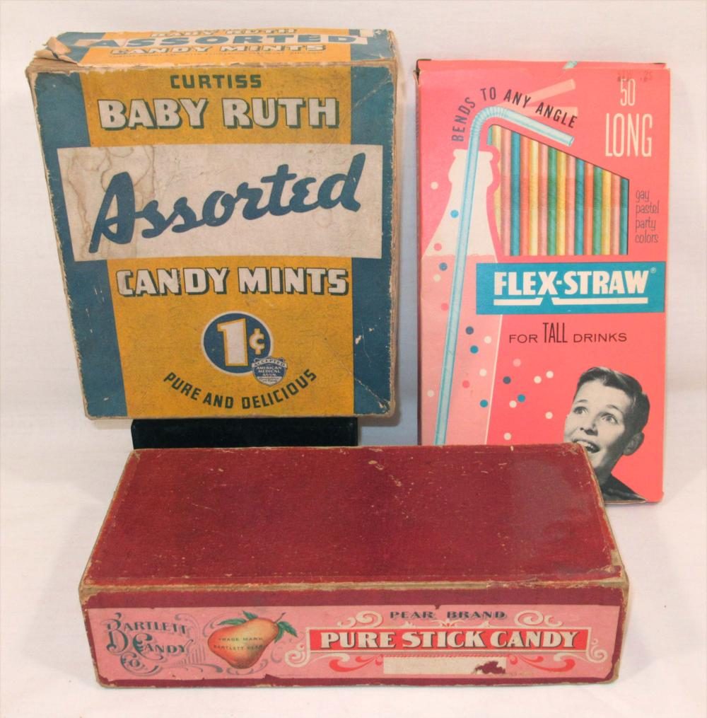 3 Candy & Straw Boxes