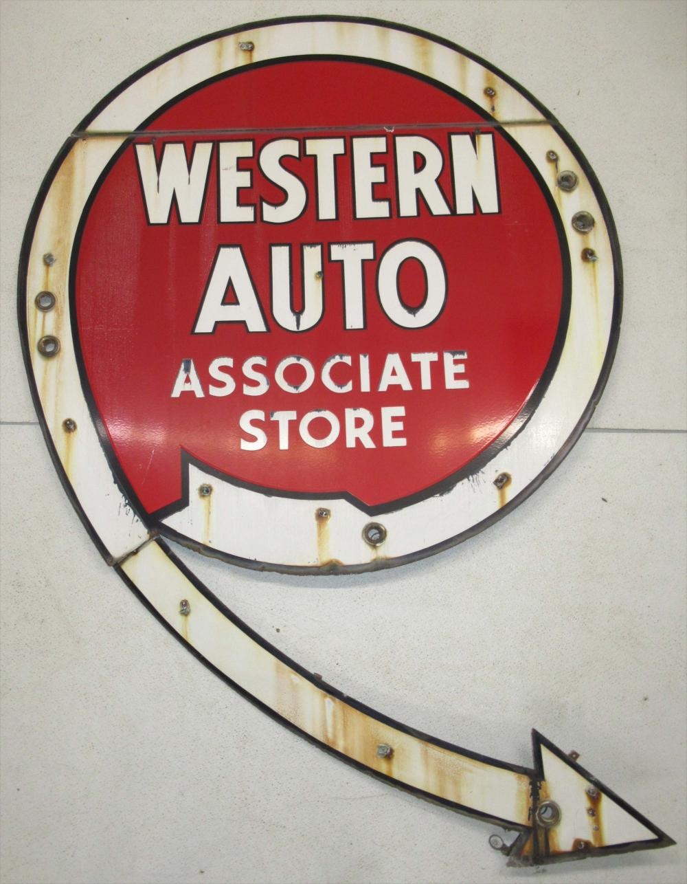Porcelain Western Auto Sign