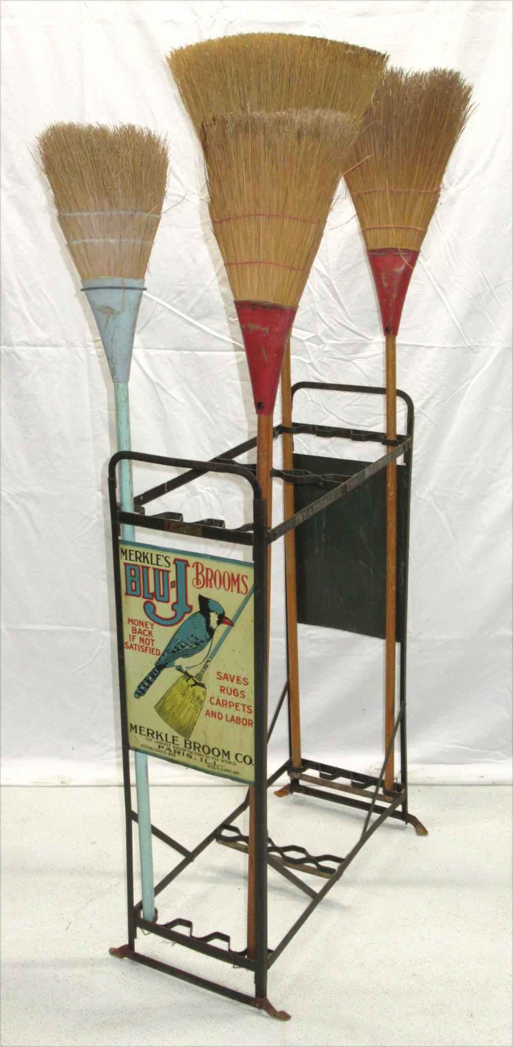 Blu-J Broom Rack