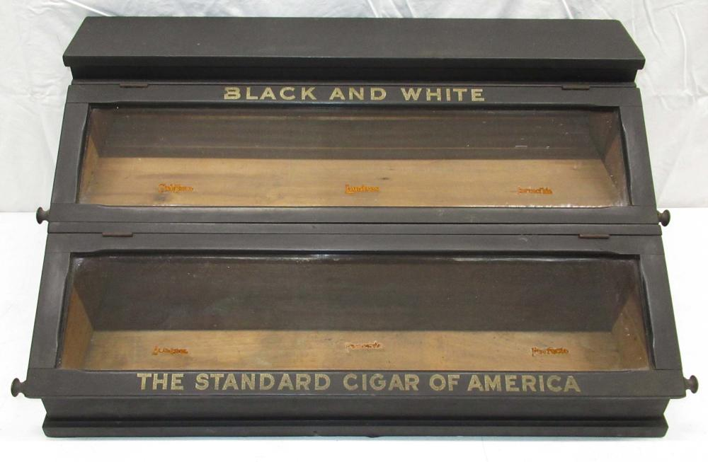 Black and White Cigar Showcase