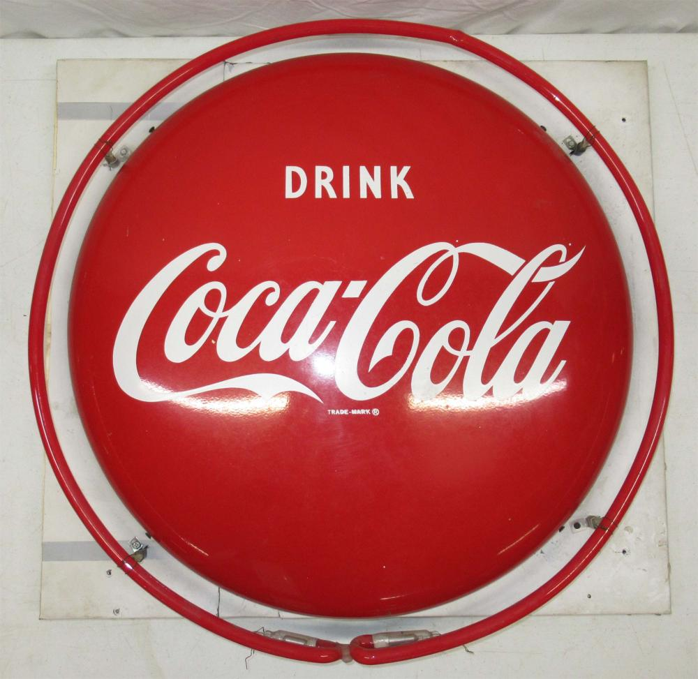 Coca Cola Button w/ Neon