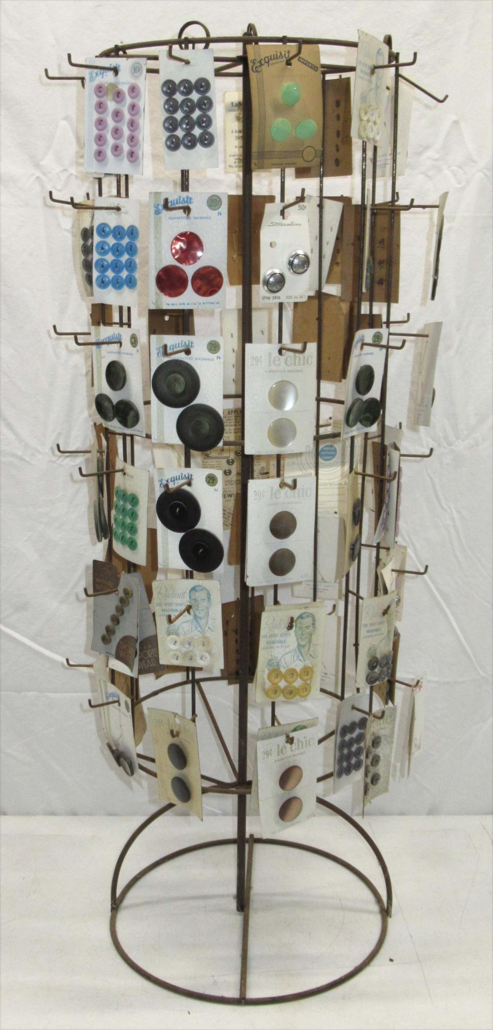 Country Store Button Display Rack