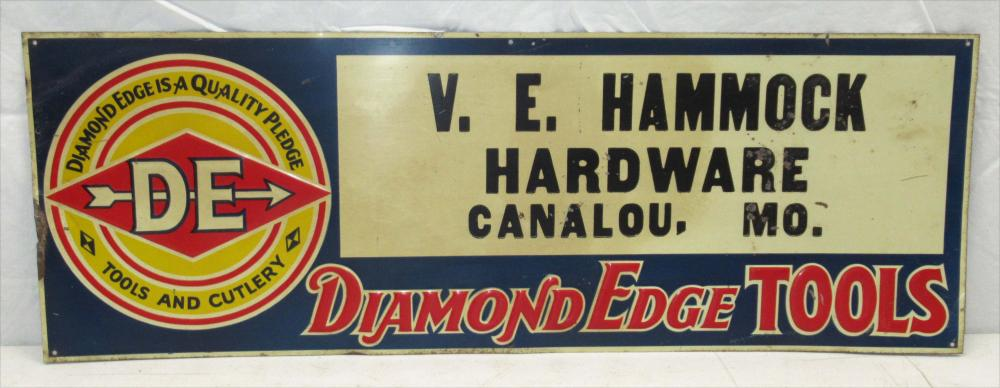 Embossed Diamond Edge Sign