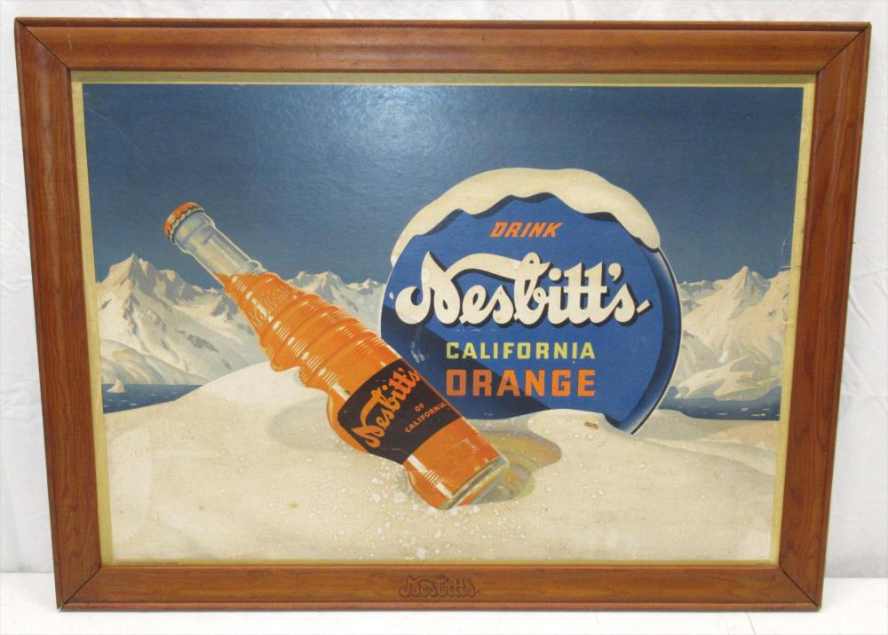 Nesbitts Soda Sign in Orig. Frame