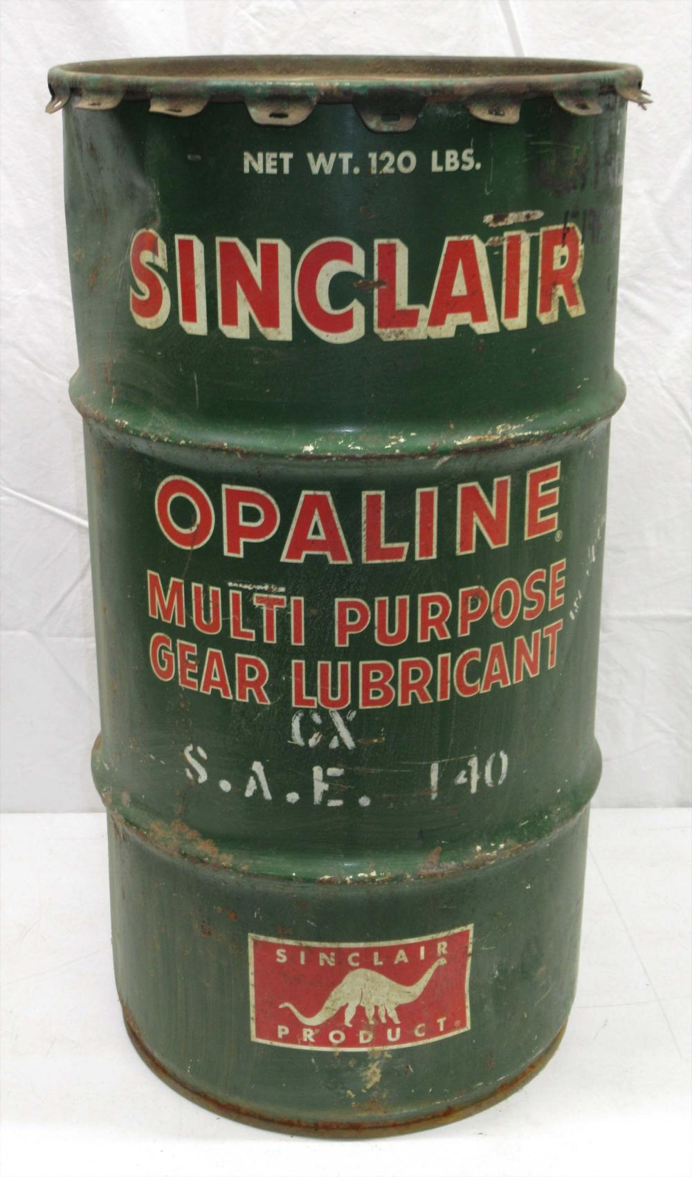Sinclair Lubricant Barrel