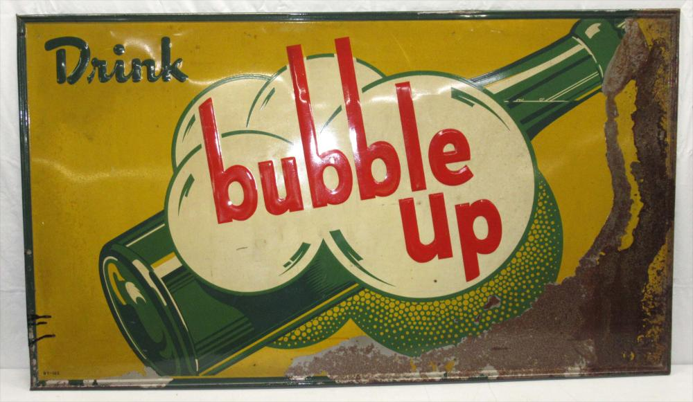 Embossed Bubble Up Sign