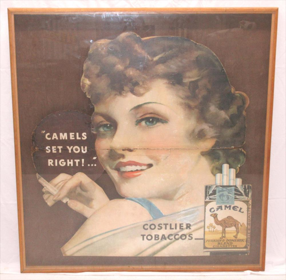 Early Cardboard Camel Cigarettes Sign