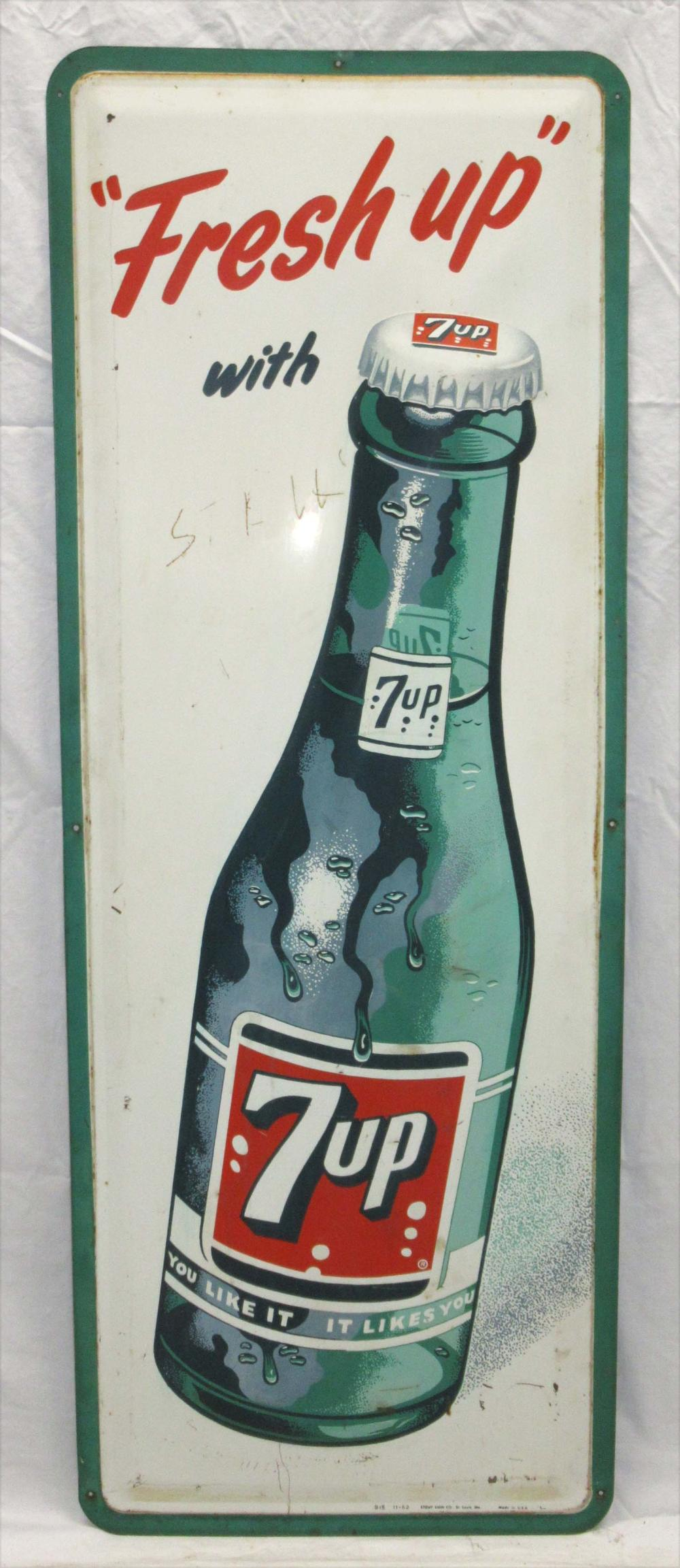 Embossed 7Up Sign