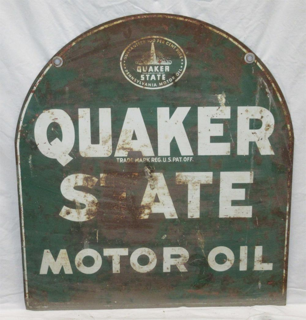 Dbl. Sided Quaker State Oil Sign