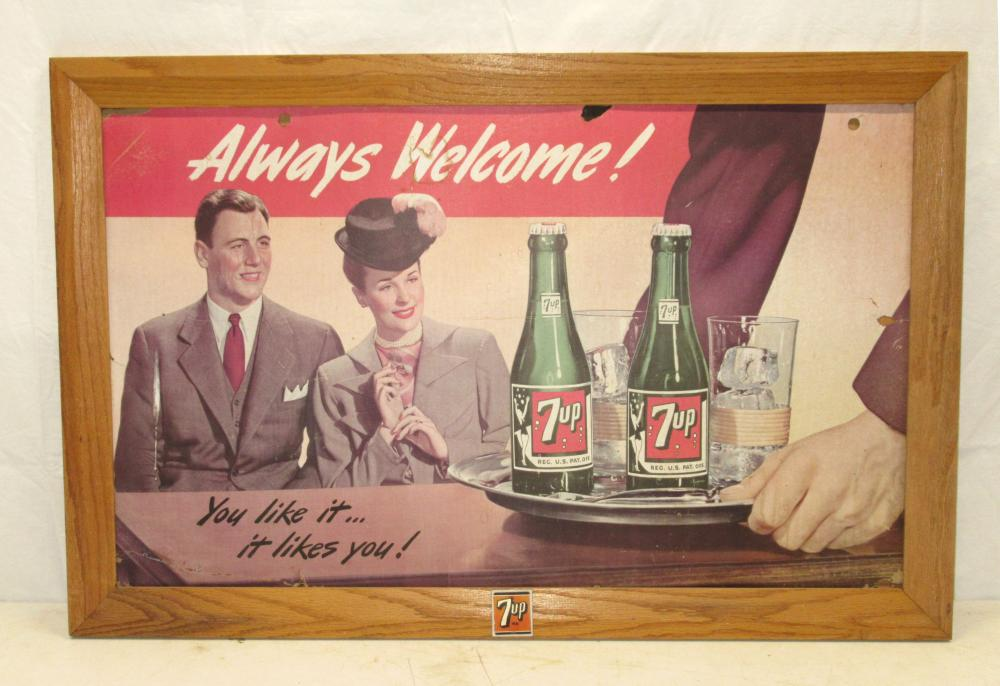 7Up Framed Sign