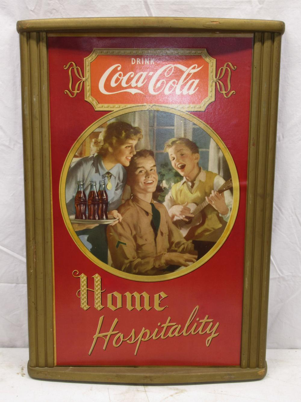 Coca Cola Framed Sign