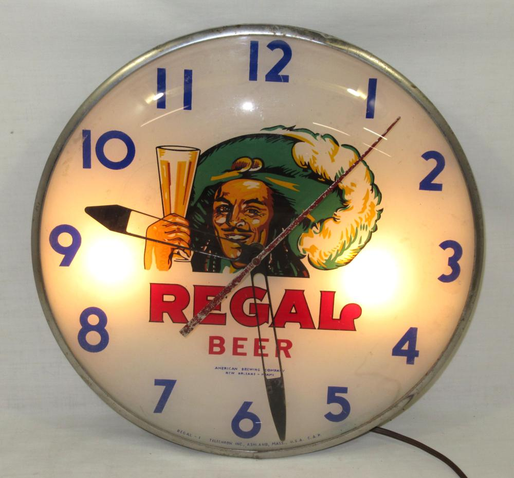 Regal Beer Adv. Clock