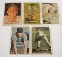 (5) 1957 Topps Baseball Cards